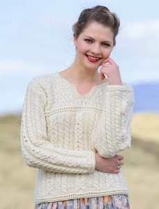 Woman Wearing Merino Wool Sweater