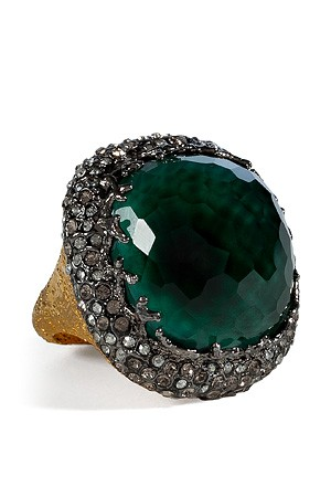 Alexis Bittar emerald ring