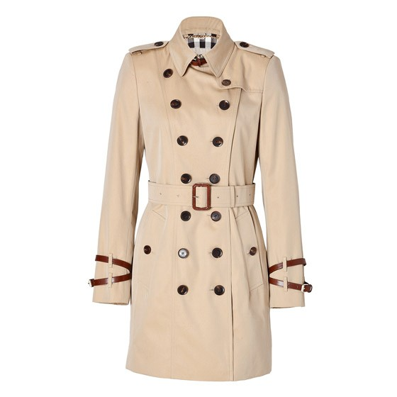 Burberry short pastel trench