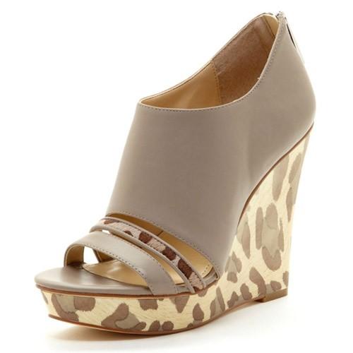 Calvin Klein Leopard Wedge Sandal