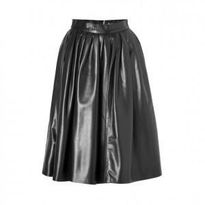Dsquared2 leather midi skirt