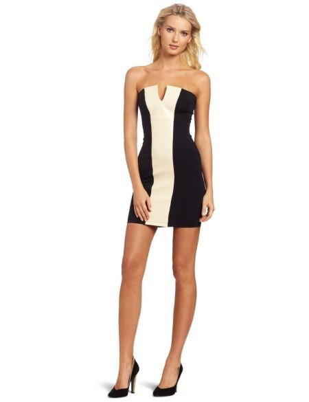 David Lerner monochrome dress
