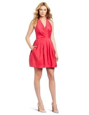Halston Heritage red dress