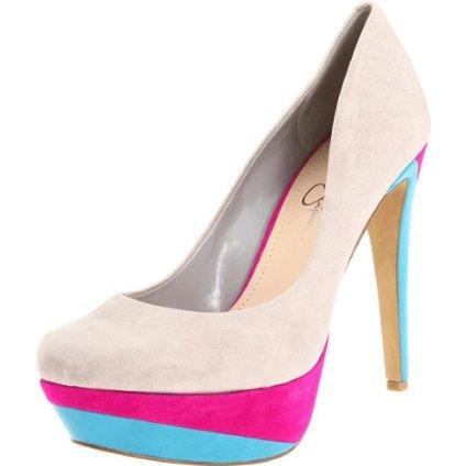 Jessica Simpson colour block pumps