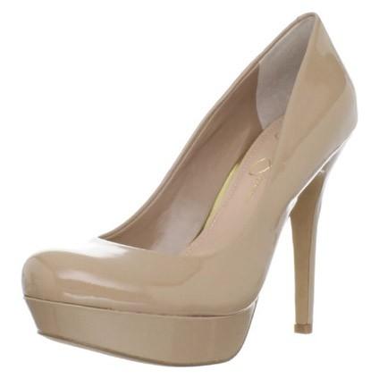 Jessica Simpson platform neutral heels