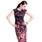 Karen Millen floral signature stretch dress