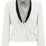 Karen Millen white tuxedo blazer