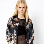 Mango floral bomber jacket