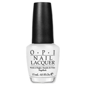 OPI white nail polish