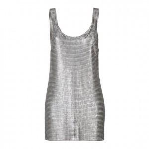 Paco Rabane metallic dress spring 2014
