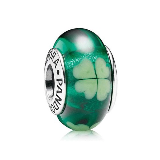 Pandora Green Murano Glass Bead