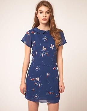 ASOS bird print dress