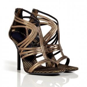 Vionnet metallic sandals