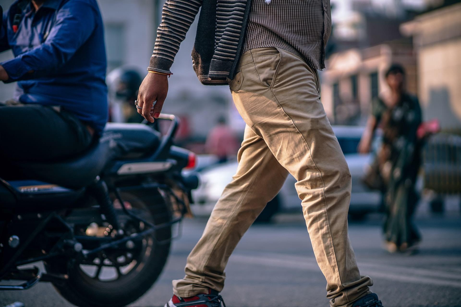 man in casual pants
