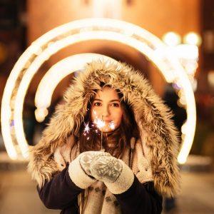woman in a winter coat