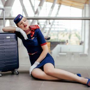airport beauty stewardess