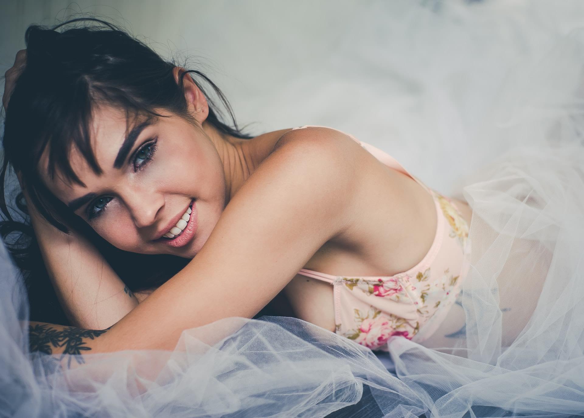 woman in an underwear