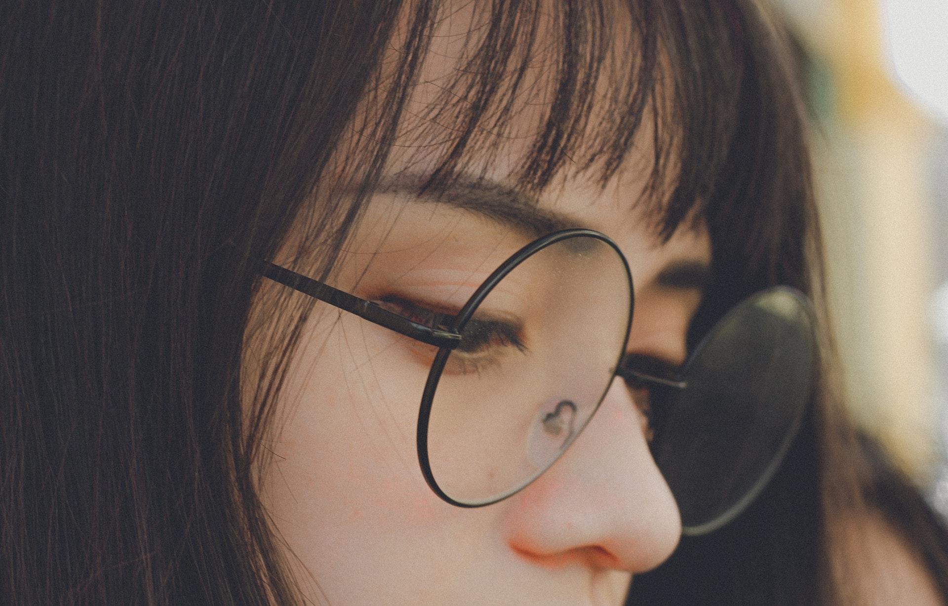 Asian girl in glasses