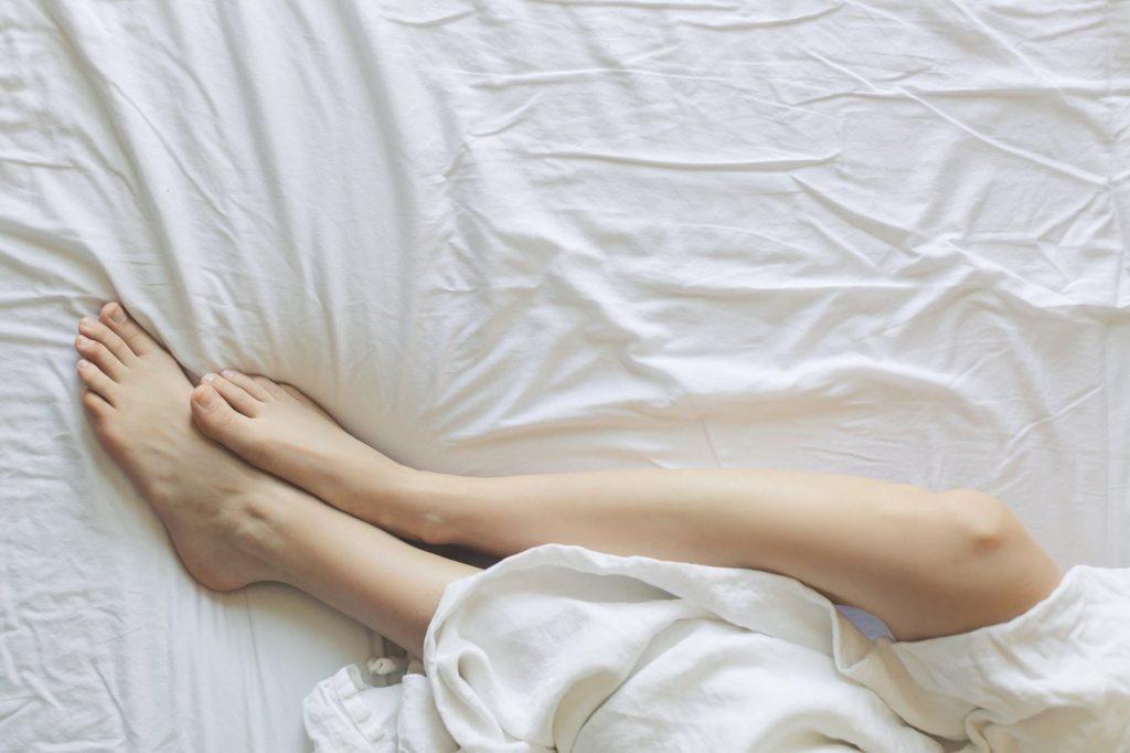 mattress and feet