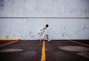 white sporty dress