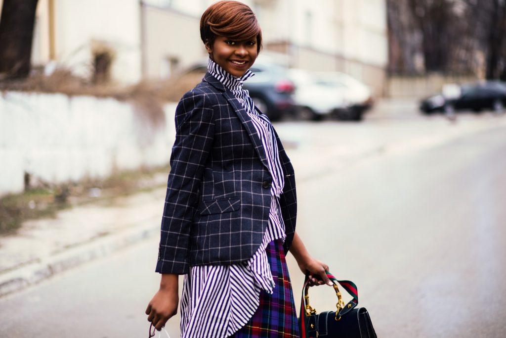 woman in a chic blazer