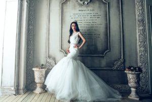 bride in a wedding gown