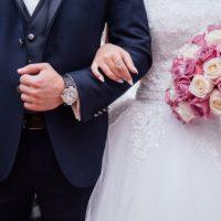 california wedding bride and groom