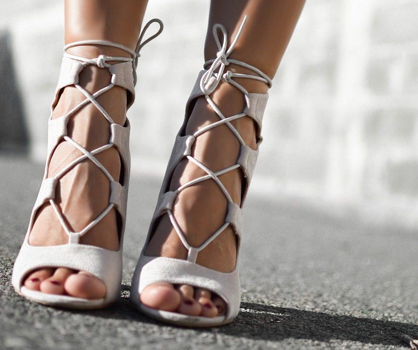 white strappy sandals