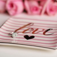 love plate engagement ring