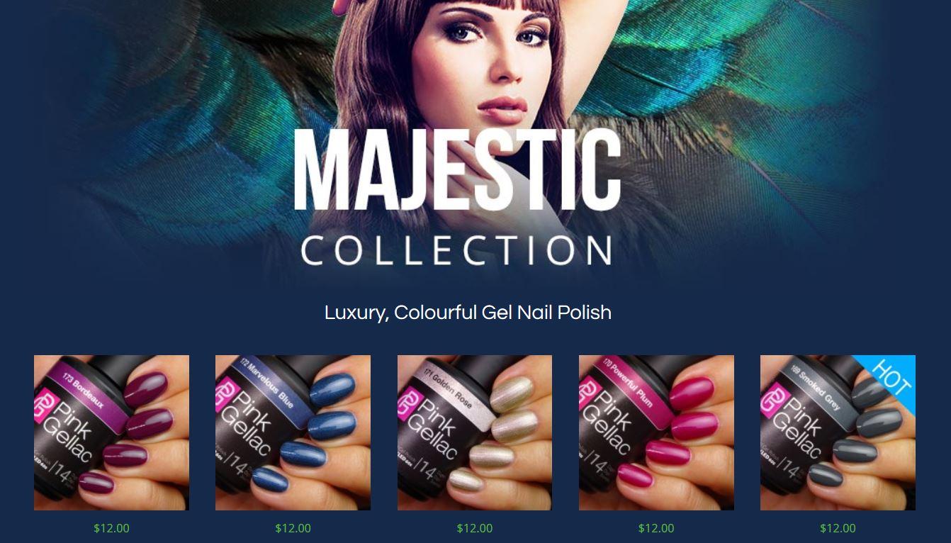 Pink Gellac Majestic gel nail polish