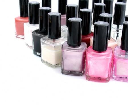 colourful nail polish