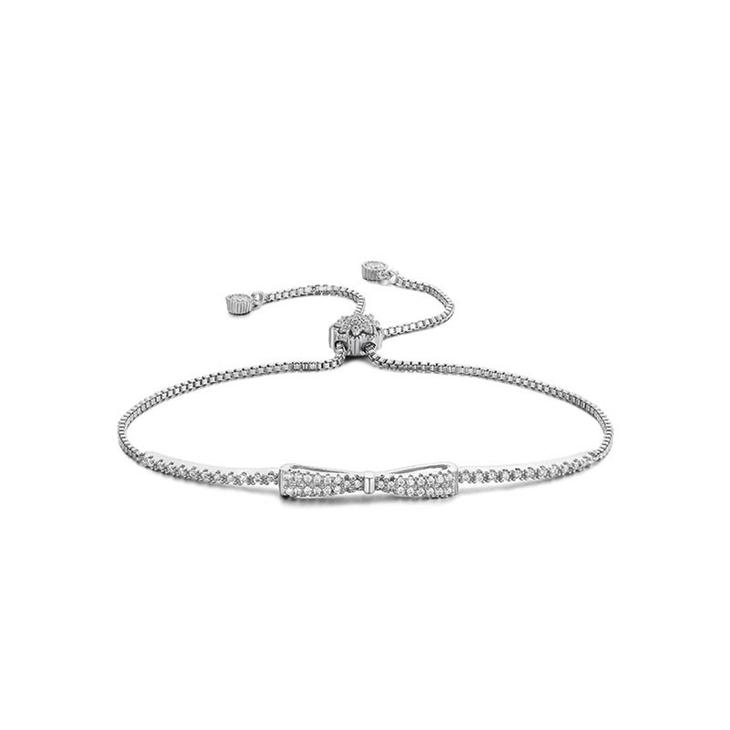 Cubic Zirconia Bow Bracelet