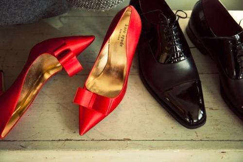 Kate Spade red stilettos