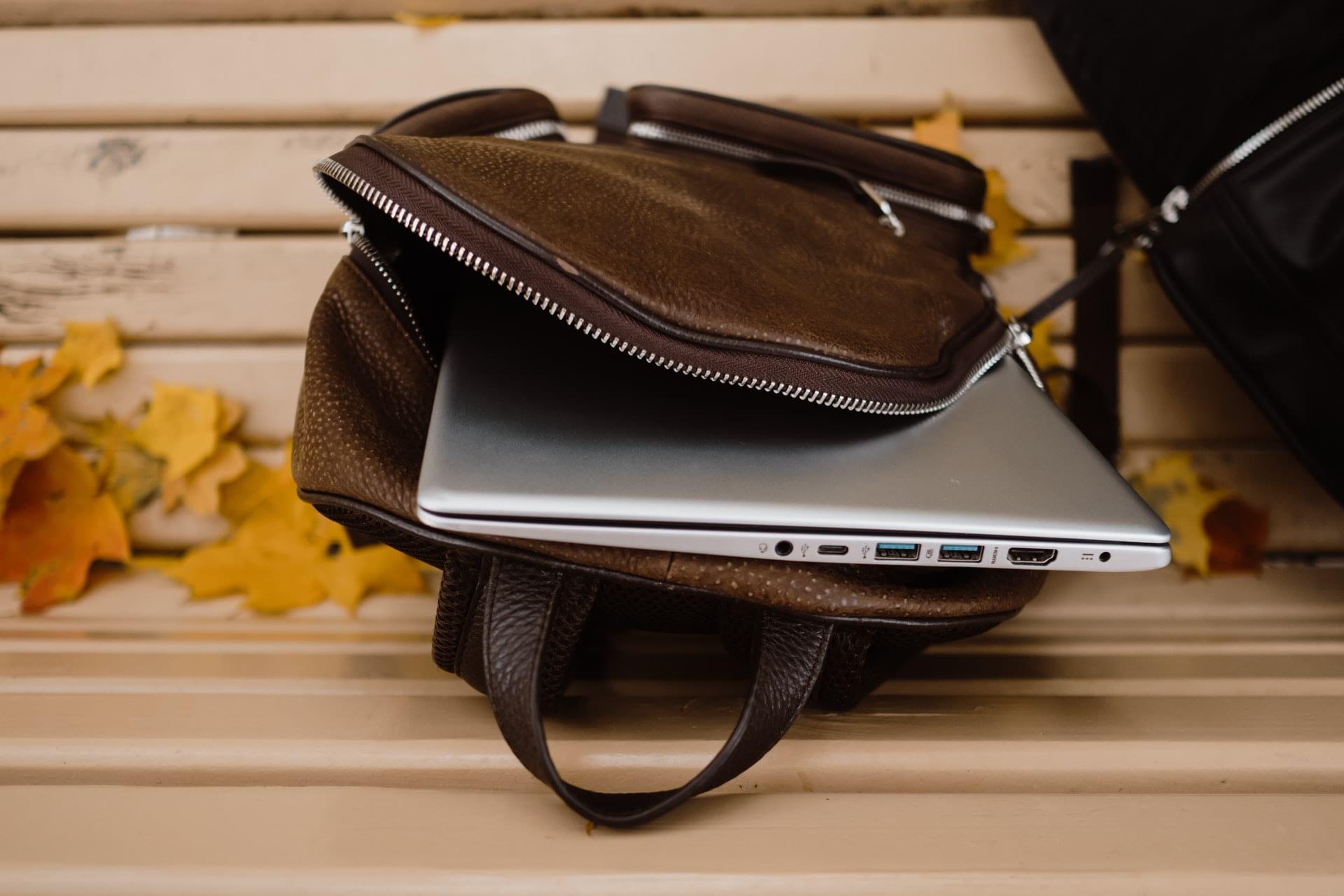 man bag with a laptop
