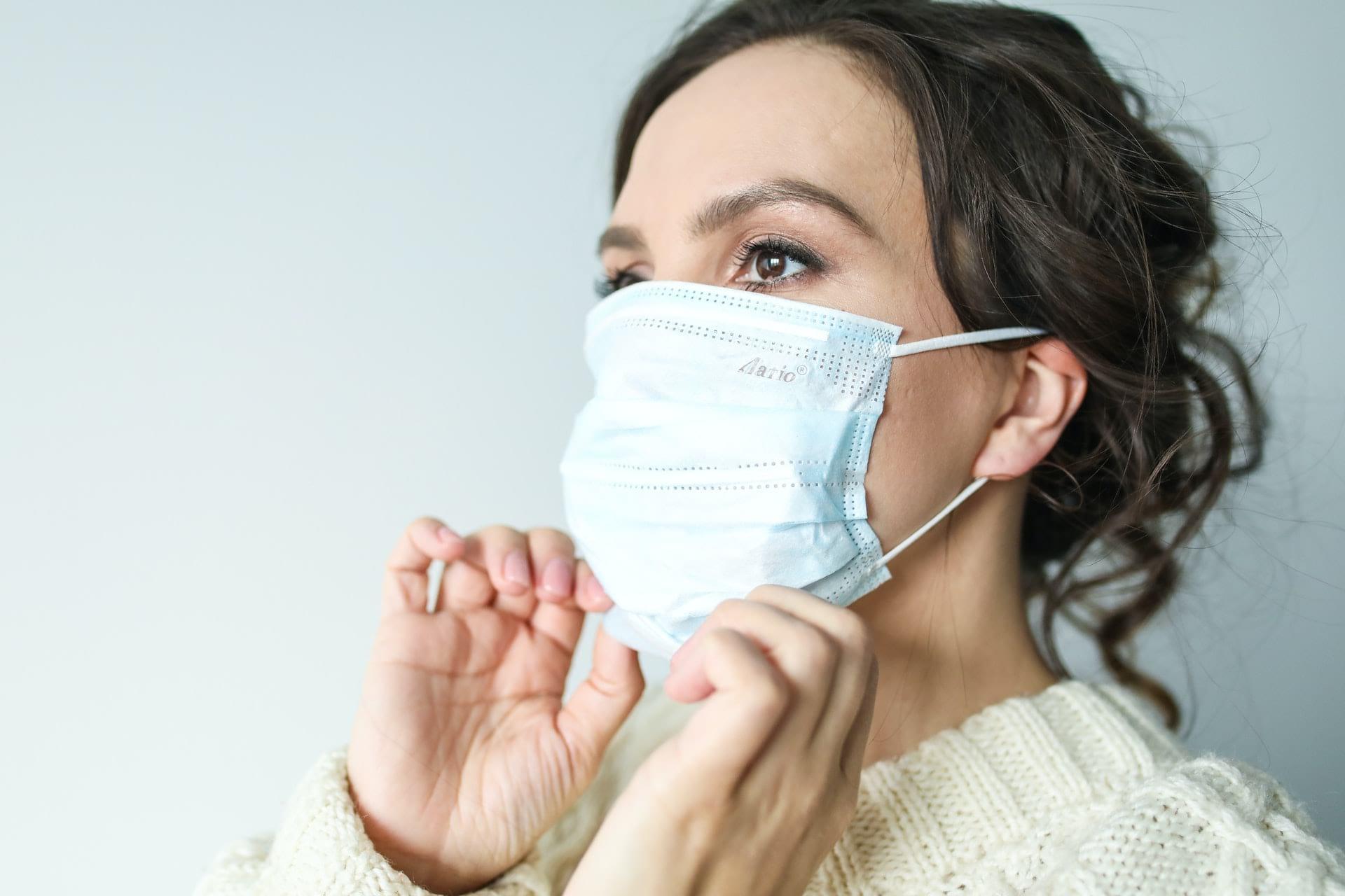 woman wearing a face mask