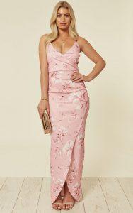 bridesmaid baby pink dress