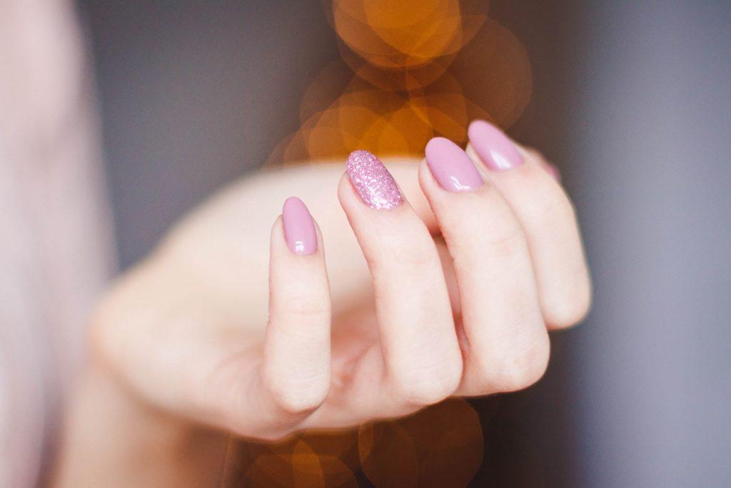 beautiful pastel pink nails
