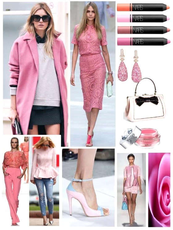 pink colour spring 2014