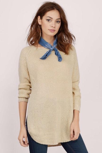 beige sweater Tobi