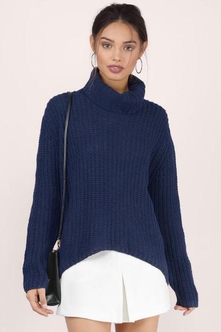 navy sweater Tobi