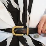 monochrome tribal print dress