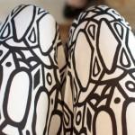 black and white tribal print pants