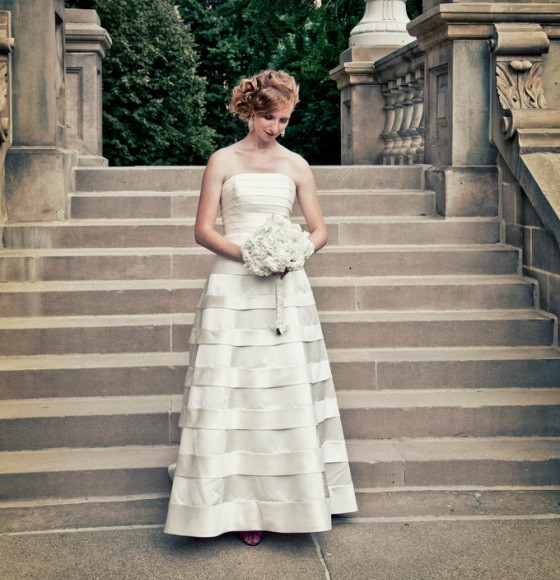 wedding gown stripes