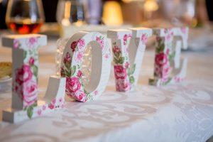 love letter wedding decor