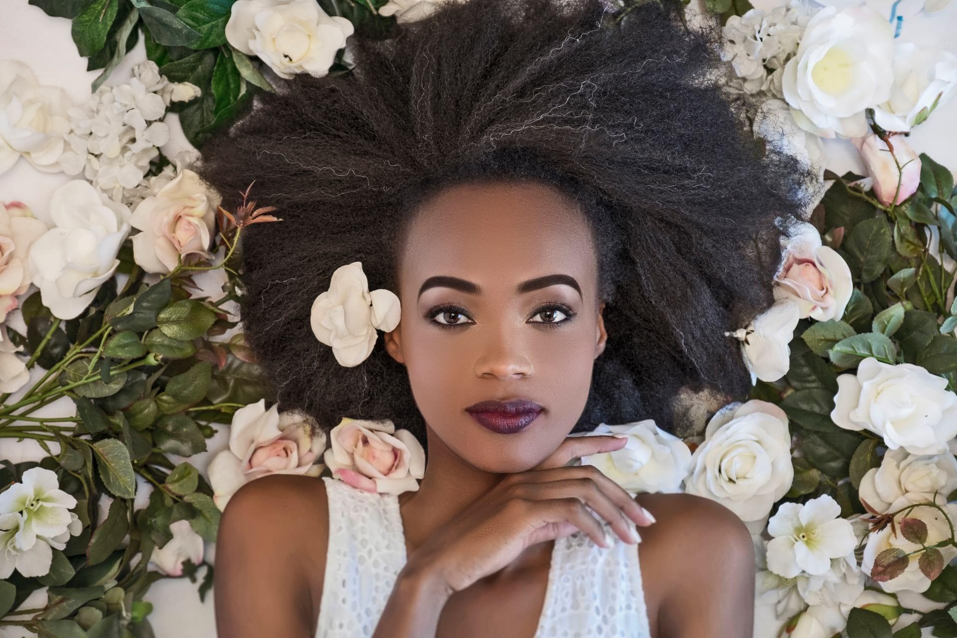 young woman beautiful skin