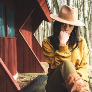 brown panama hat