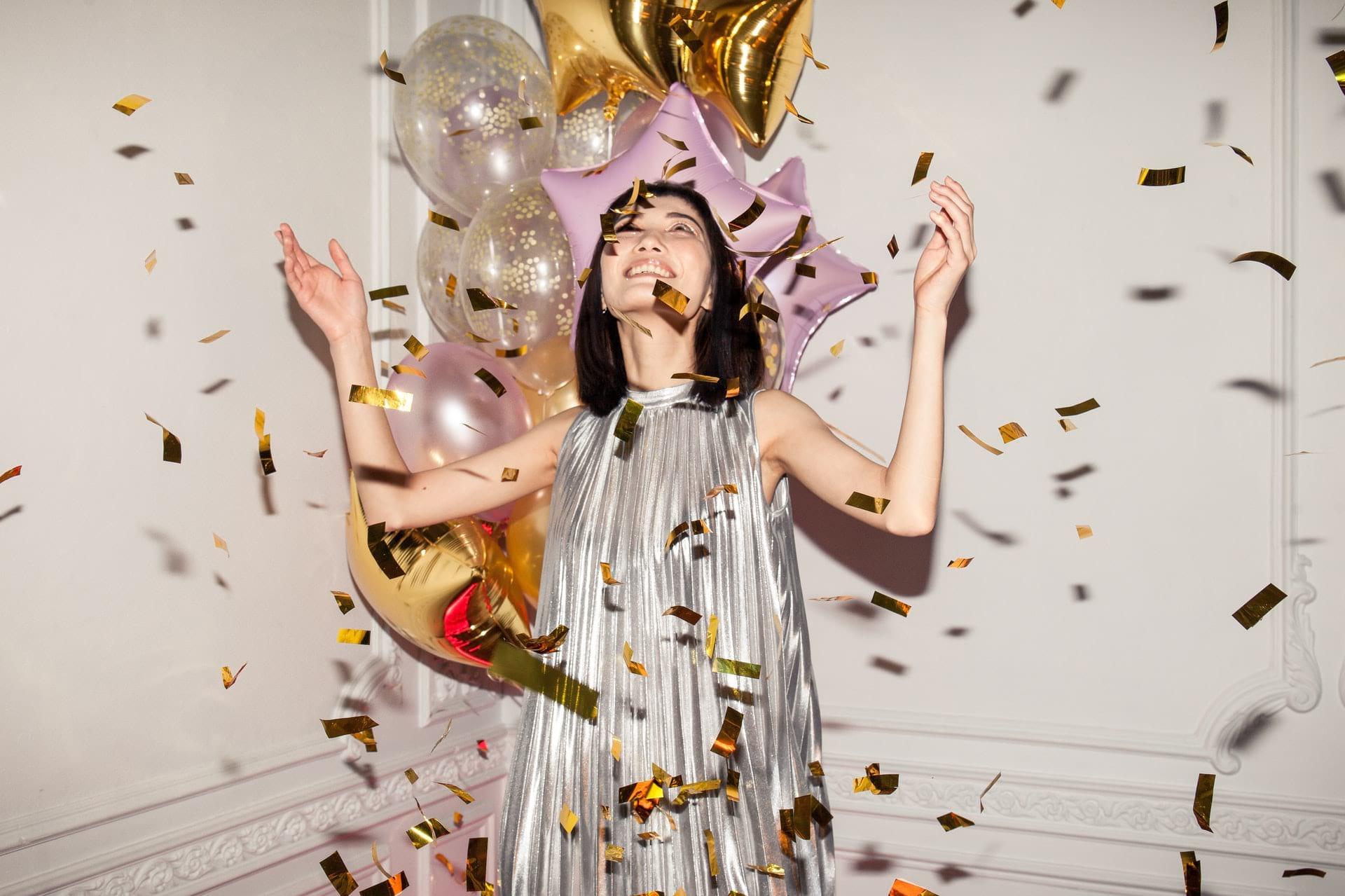 glitter dress new years eve